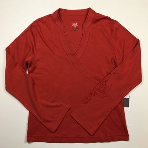 NWT Lole burnt orange long sleeve top medium